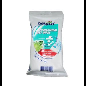 Ultra Compact antibakteriális nedves törlőkendő 15db