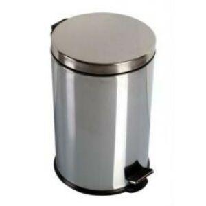 Krómozott pedálos szemetes 12 liter