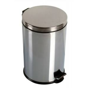 Krómozott pedálos szemetes 20 liter