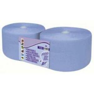Papírtörlő ipari, 2 rétegű, kék, 1000 lapos