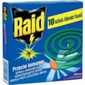 Raid szúnyogriasztó spirál