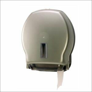 Toalettpapír adagoló 19 cm-es átmrőjű EÜ papírhoz, ezüst színű
