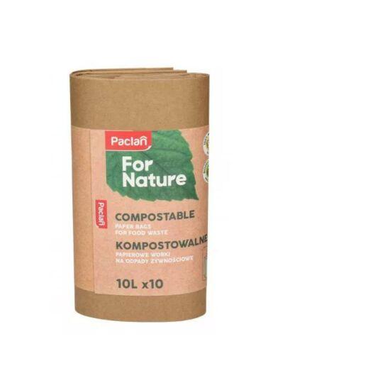 Paclan Nature komposztálható papírzacskó 10 l