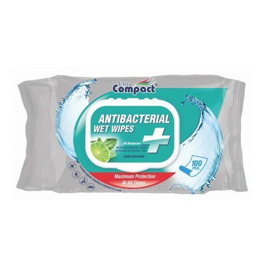 Ultra Compact antibakteriális nedves törlőkendő 100db