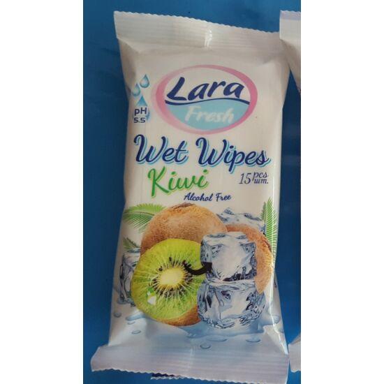 Lara Fresh nedves törlőkendő gyümölcs illattal 15 db